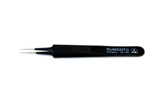Dumont Swiss Made Epoxy Coated Super Fine Tip 5SA Tweezers