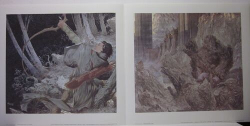 Legolas The Black Gate is Closed 2 Prints by Michael Kaluta  Lord of the Rings