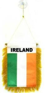 Ireland MINI BANNER FLAG GREAT FOR CAR /& HOME WINDOW MIRROR HANGING 2 SIDE
