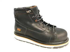 Timberland-PRO-A1B4K-Men-039-s-6-034-Gridworks-Alloy-Toe-Black-Leather-Work-Boots-SZ-10