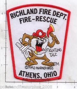 OHIO-ATENAS-Richland-Oh-FIRE-DEPT-Parche-Rescate-Fuego