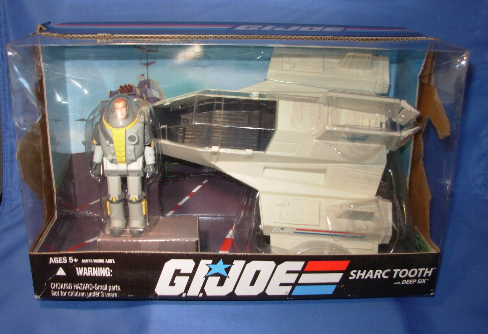 GI Joe SHARC TOOTH VEHICLE w/DEEP SIX Cobra 25th Anniversary Complete Sealed Box