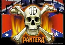 "PANTERA FLAGGE / FAHNE ""SKULL & BONES"" POSTERFLAGGE POSTER FLAG"