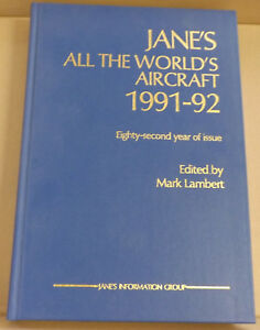 Jane-039-s-All-the-World-039-s-Aircraft-1991-92-82nd-Year-of-Issue-NEW-Hardback