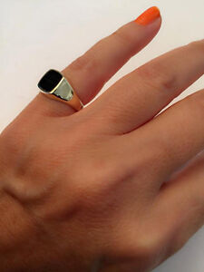 75283838d0392 Details about Signet Ring, women ring, men ring, Pinky ring, Onyx Ring.  Silver Signet Ring