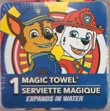 PAW PATROL CHASE & MARSHAL MAGIC TOWEL!(TM) 100% COTTON! NEW! CARTOONS!
