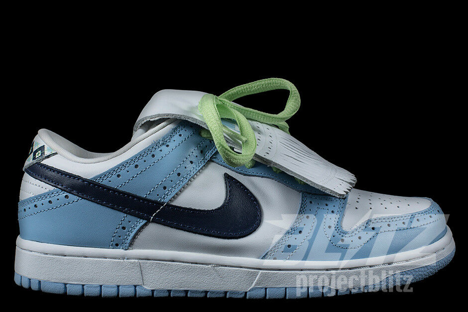 NIKE DUNK LOW PRO SB GOLF Sz 8-8.5 WHITE MIDNIGHT NAVY BLUE ICE 313170-141 New shoes for men and women, limited time discount