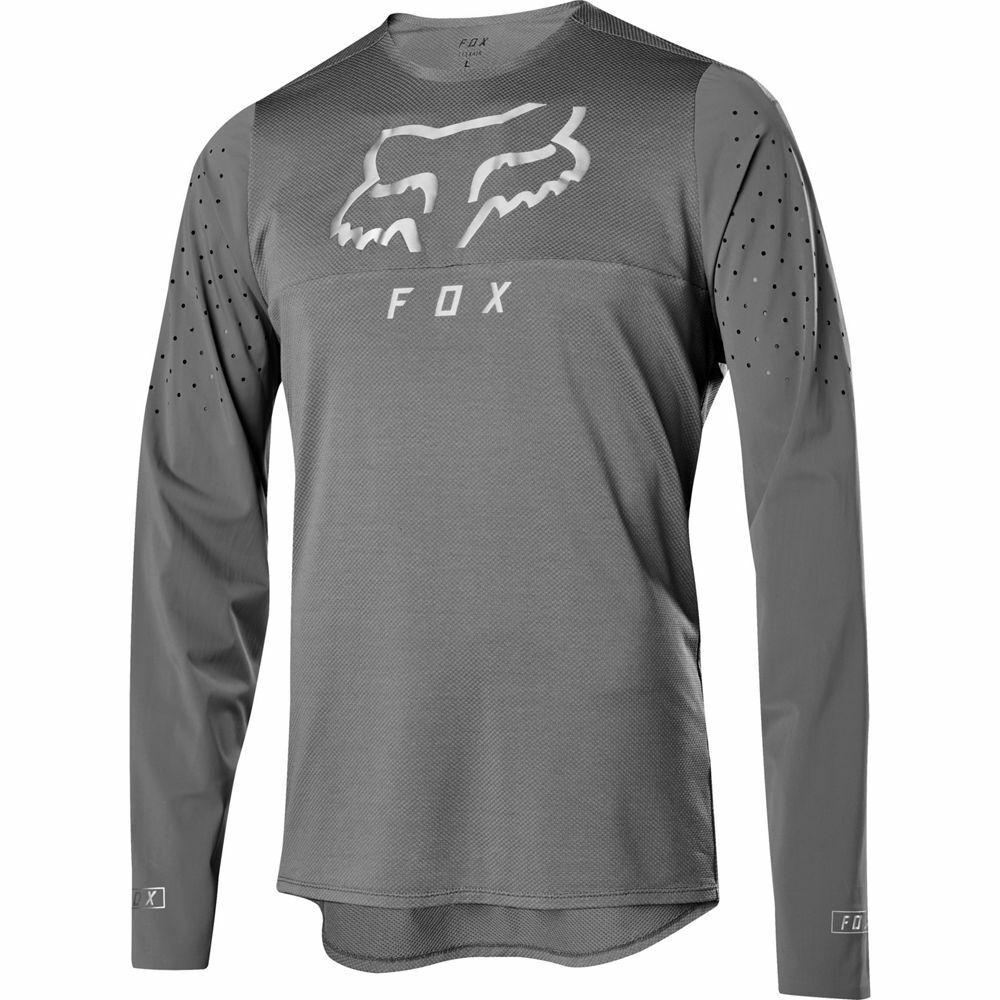 Fox Racing 2019 Flexair Delta Long Sleeve L S Jersey grau Vintage