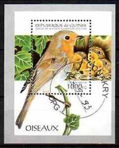 Oiseaux-Guinee-20-bloc-oblitere