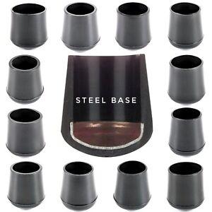 Steel-Base-Rubber-Tube-Ferrules-Chair-Feet-Walking-Stick-Caps-Made-in-Germany