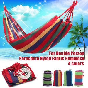 2-Person-Hammock-Hamac-Outdoor-Leisure-Bed-Hanging-Bed-Double-Sleeping-Canvas