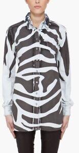 Rare-AUTH-Pierre-Balmain-Zebra-Denim-Shirt-Size-IT40-US-4
