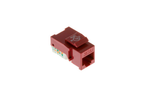 Lifetime Warranty Cat6 Tool Less RJ45 Keystone Jack Red