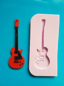 GUITAR-SILICONE-MOULD-FOR-CAKE-TOPPER-CHOCOLATE-CLAY-ETC