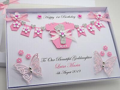 HANDMADE PERSONALISED BUTTERFLY HANDBAG BIRTHDAY GREETING CARD