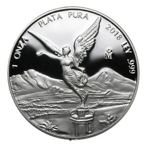 Proof Libertad 2018 1 OZ Silver Mexico in original capsule