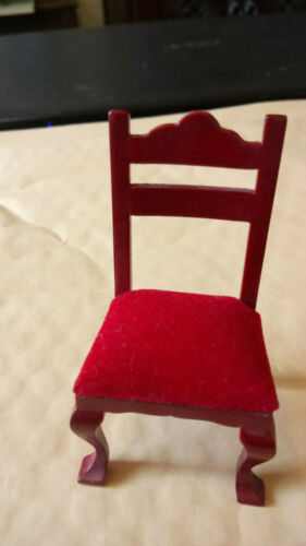 Dolls House Furniture Mahogany Side Chair