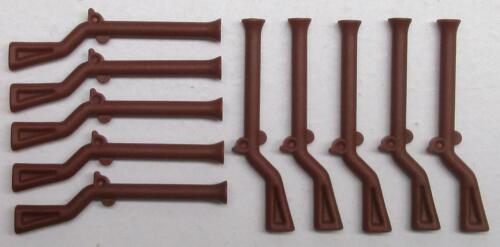 10 NEW LEGO REDDISH BROWN RIFLES MUSKETS flintlock pirates soldiers guns 2561