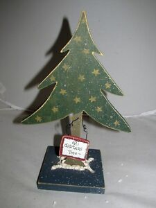 Christmas-Tree-Cut-Out-Cutting-Wooden-Stand-Holiday-Figure-Table-Sitter-Decor