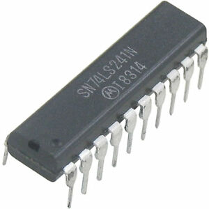 10-Stueck-74LS241-Motorola-NS-8-fach-buffer-line-driver-Neuware-ohne-RoHS