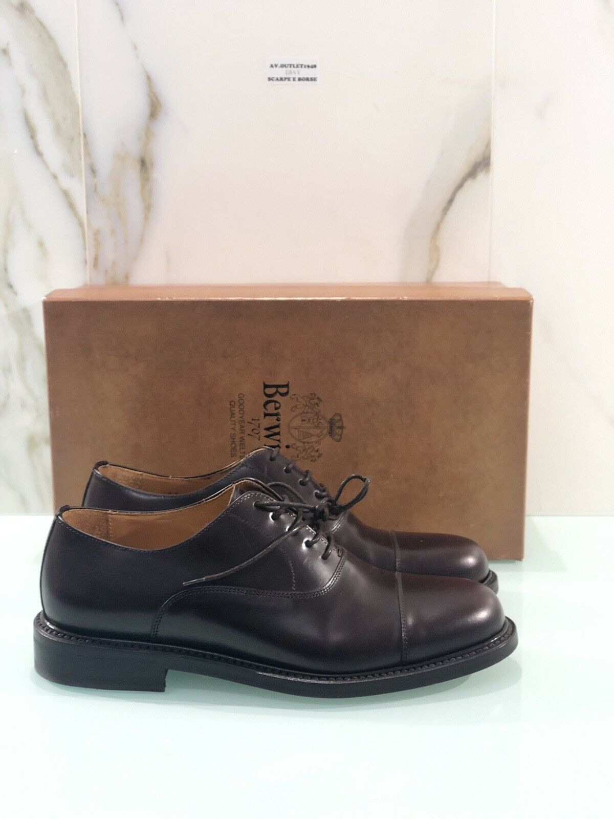 Berwick 1707 Oxford In Pelle Crokex 3739 Numero 40 Goodyear Welted H0192