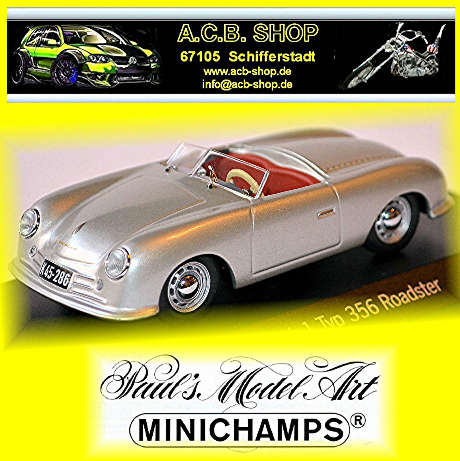 Porsche Nr.1 Tipo 356 Roadster 1947-48 argento argento Metálico 1 43 Minichamps