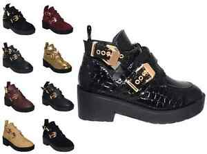 WOMENS-LADIES-CUT-OUT-BOOTS-ANKLE-CHUNKY-HEEL-BUCKLE-BIKER-BLOCK-UK-SIZES-3-8