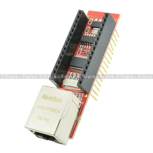 ENC28J60 Ethernet Shield For Arduino Nano V3.0 RJ45 Webserver Module CF