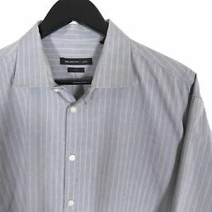 John-Varvatos-Slim-Fit-Blue-Stripe-L-S-Dress-Shirt-100-Cotton-Men-039-s-17-5-34-35