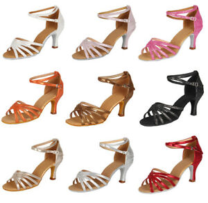 Brand-New-Ballroom-heeled-Latin-Dance-Shoes-for-Women-Children-Girls-Tango-amp-Salsa