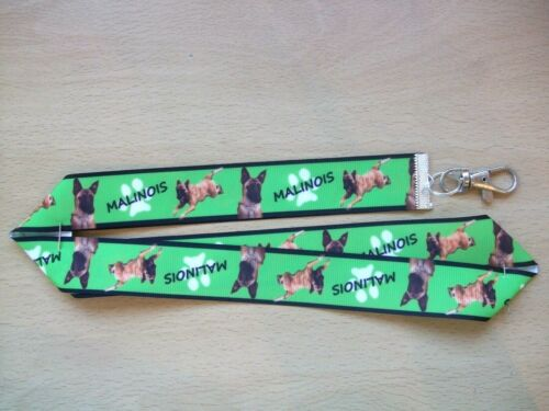 Mini Schnauzer Dog Lanyard Whistle Walking Training Key ID Puppy Blue Handmade