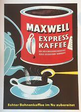 RARE Original Mid Century Maxwell House German Coffee Poster Plakat Pop Art