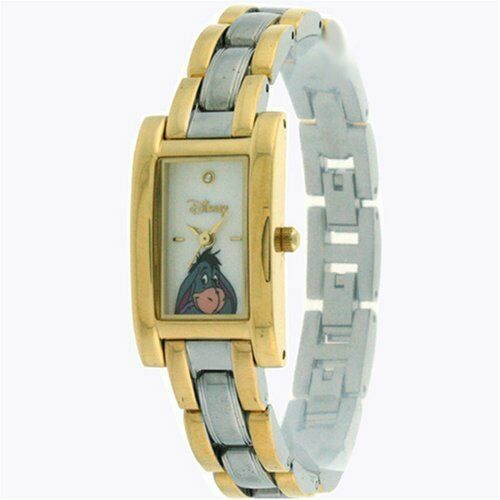 Rare Disney Women's Eeyore two tone Gold and Silver wrist Watch MU2544