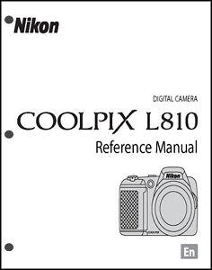 nikon coolpix l810 digital camera user guide instruction manual ebay rh ebay com nikon coolpix l810 digital camera user manual What Nikon Coolpix Digital Camera