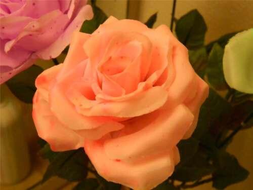 Glow in the dark and UV black light silk Roses HALLOWEEN PROP Ghost Flowers
