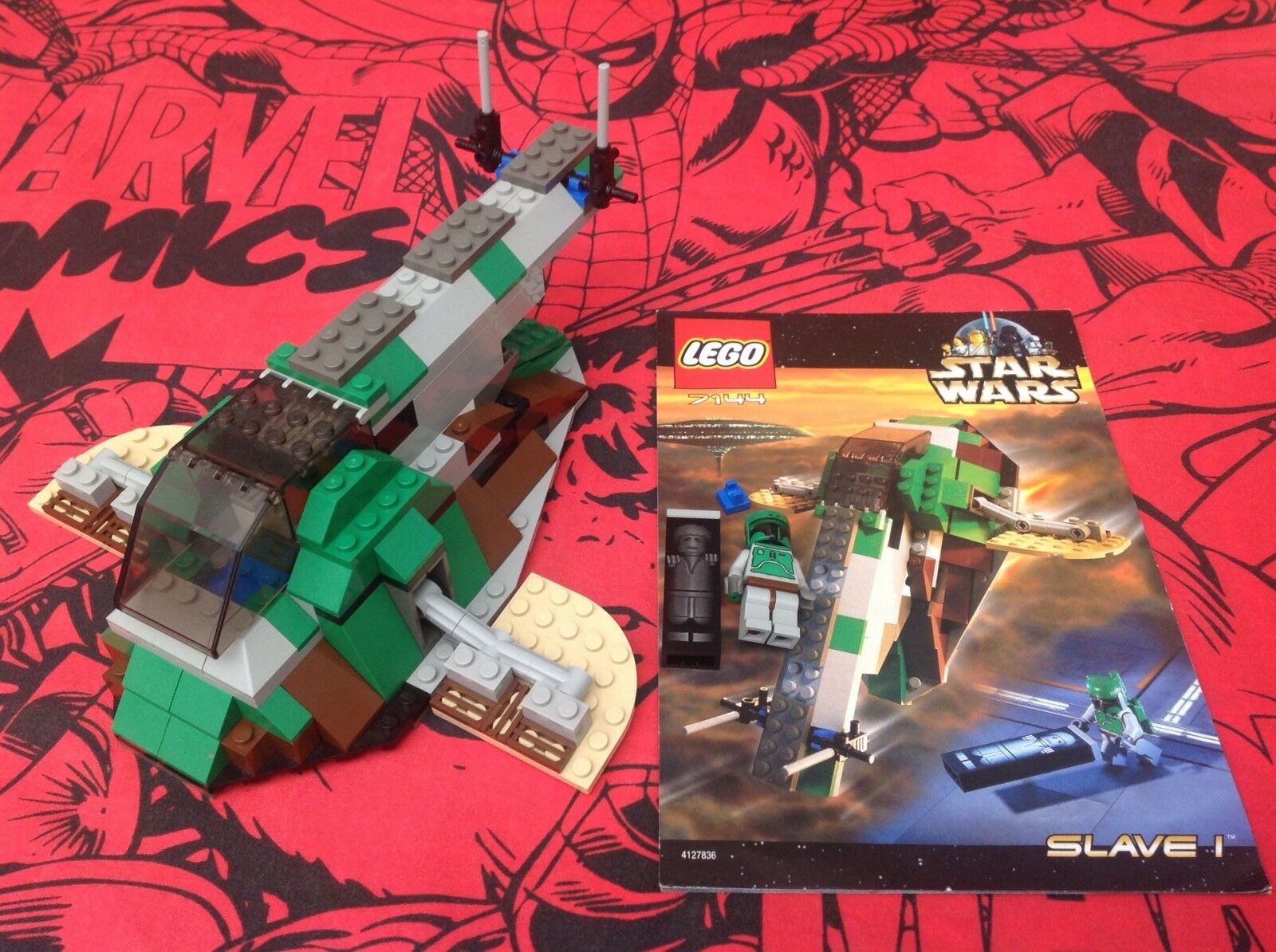 Vintage Lego Star Wars 7144 Slave 1 Complete With Instructions & Minifigures