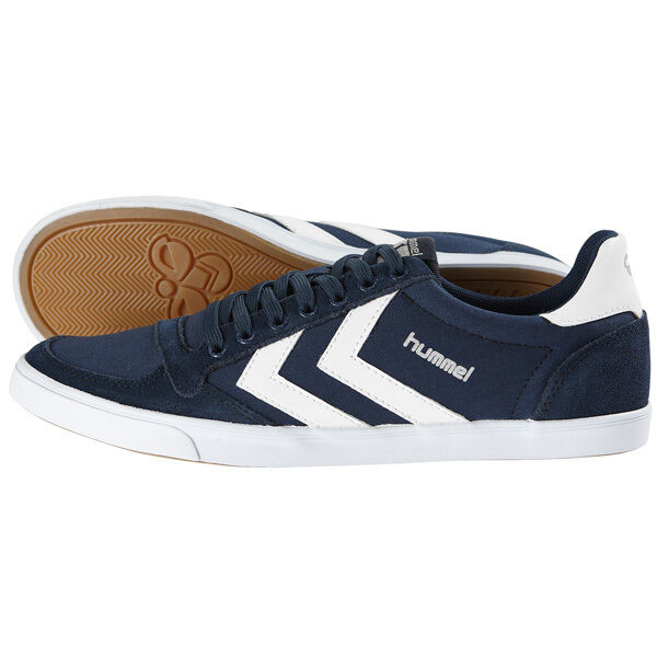 HUMMEL SLIMMER STADIL LOW TOP Chaussures baskets bleu/blanc 63-512-7647 Handball