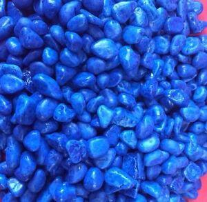 Fish Tank Gravel 14 Kg Bleu Aquarium Grande Pierre Polie 10mm