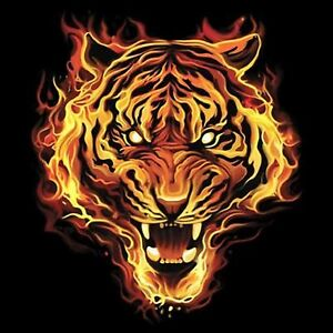 Flaming Tiger S/M-L/XL- 2X/3XL Cover UP Nightshirt
