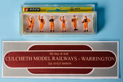 NOCH /'HO/' GAUGE 15275 RAILWAY SHUNTERS 6 FIGURE SET BOXED