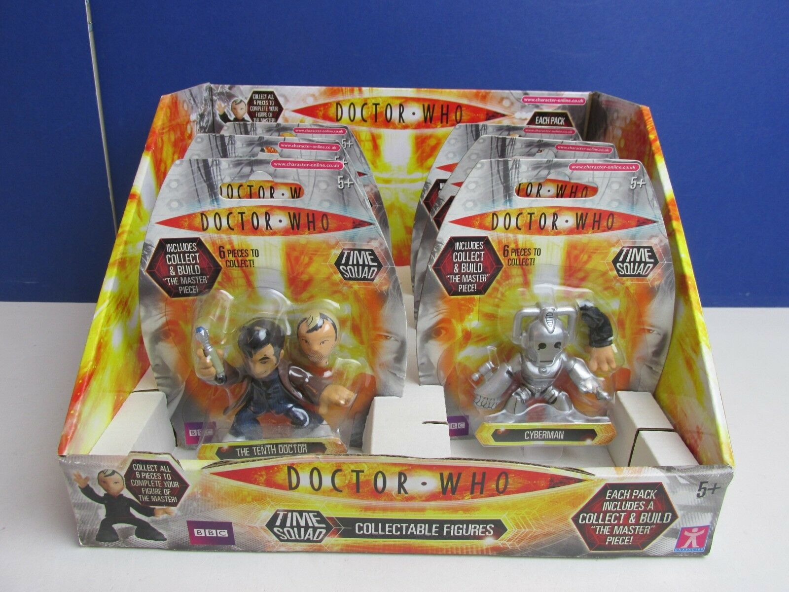 Dr doctor who COLLECT & BUILD master TIME TIME TIME SQUAD FIGURE complete SET SHOP DISPLAY a534d8