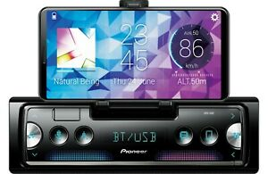 NEW-Pioneer-SPH-10BT-1-DIN-Digital-Media-Player-Bluetooth-Pop-Out-Phone-Cradle