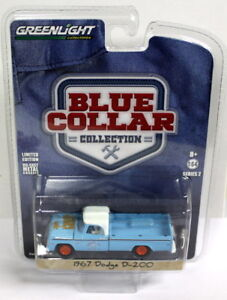 Greenlight-1-64-SCALA-Blue-Collar-1967-DODGE-D-200-PICK-UP-MODELLO-DIECAST-AUTO