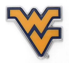 """/"""" MATTE Chrome Auto Emblem West Virginia University /""""WV Shape"""