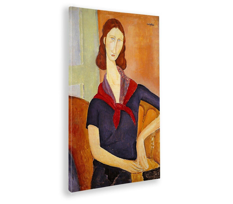 Quadro - Amedeo Modigliani - Jeanne Hebuterne con foulard - Impresión de bellas