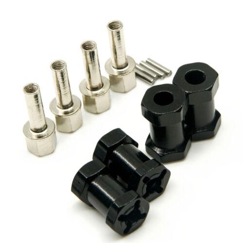 4x12mm Hex Hub Radnaben mit Sechskant Radmitnehmer 20mm Verbreiterung für SCX10