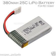 3.7V 380 mAh Lipo Battery for Hubsan X4 Syma 6YG Upgraded Spare Replacement