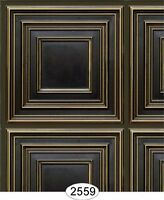 Dollhouse Wallpaper Ceiling Square Panel Antique Brass