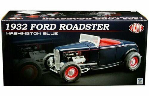 ACME 1 18 1932 Ford Roadster Diecast Model Car Washington Blau A1805014