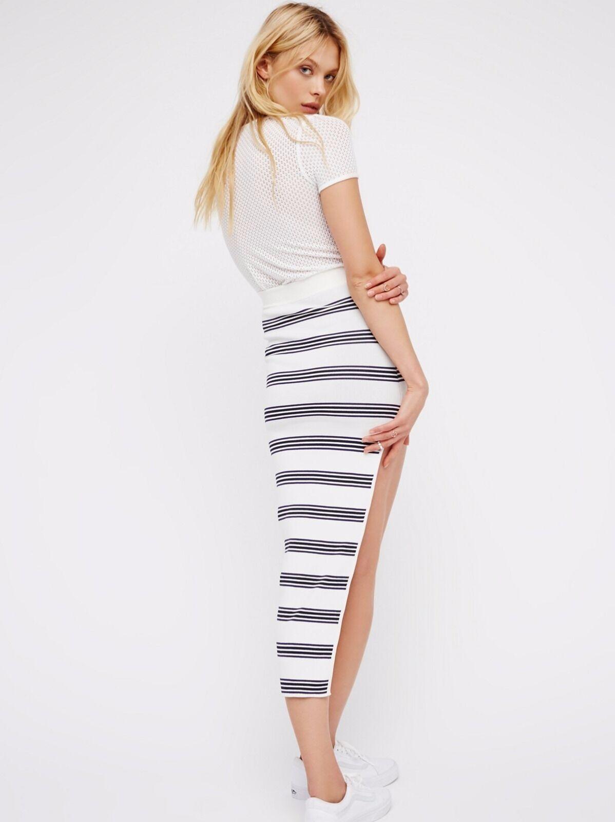 New Free People Alice McCall My Selfish Heart Stripe Skirt Size 4 US  240